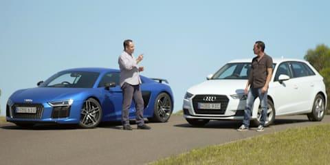 Audi R8 V10 Plus v A3 1.0 TFSI comparison