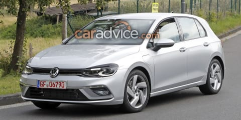 2020 Volkswagen Golf GTE spied almost undisguised