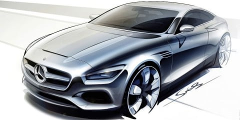 Mercedes-Benz S-Class Coupe design sketches released