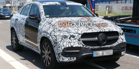 2020 Mercedes-Benz GLE Coupe spied with less camouflage
