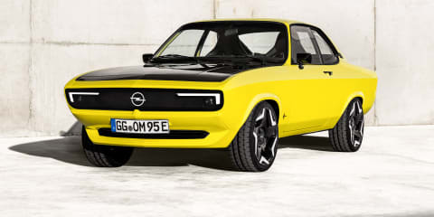 Opel Manta GSe ElektroMod: 1970s coupe restored with electric power and a manual gearbox