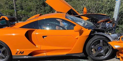 McLaren Senna LM crashed in Monaco
