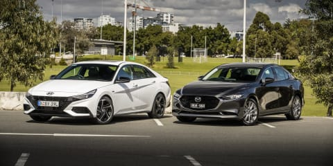 2021 Hyundai i30 Sedan N Line Premium v 2021 Mazda 3 G25 GT Sedan comparison