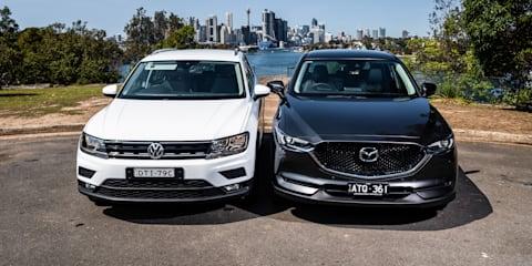 2018 Volkswagen Tiguan 132TSI v Mazda CX-5 Touring AWD comparison