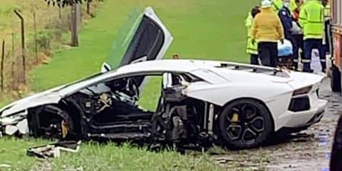 Porsche 911 Turbo, Lamborghini Aventador crash in Sydney storms