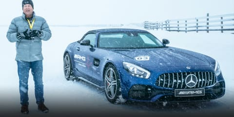 Ice driving in New Zealand with Mercedes-AMG