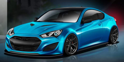 Hyundai JP Edition Genesis coupe: SEMA show car teased