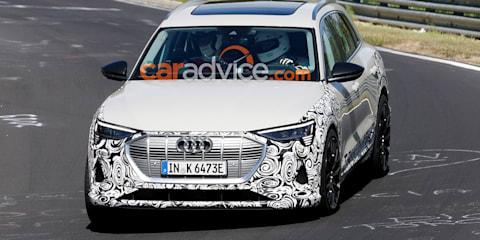 Audi e-tron quattro 'S' spied at the Nurburgring