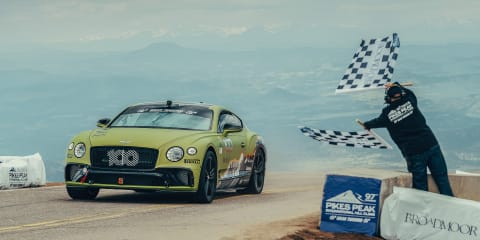 Bentley Continental GT sets new Pikes Peak record