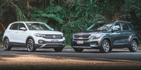 Small SUV review: 2020 Kia Seltos v Volkswagen T-Cross comparison