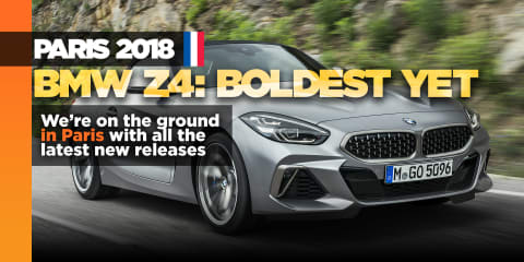 New BMW Z4 drops top for Paris crowd
