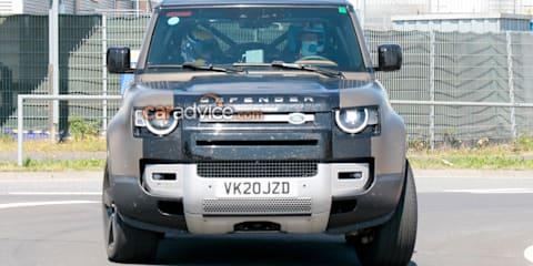 2021 Land Rover Defender V8 spy photos