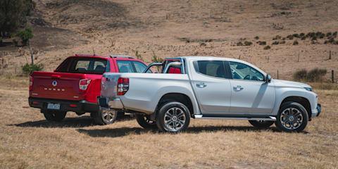 Mitsubishi Triton GLS Premium v SsangYong Musso Ultimate comparison