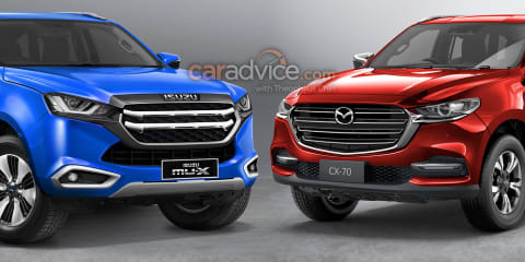 2021 Isuzu MU-X, Mazda 'CX-70' SUVs imagined