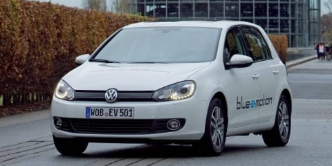 Volkswagen Golf Electric Car (Blue-e-motion)