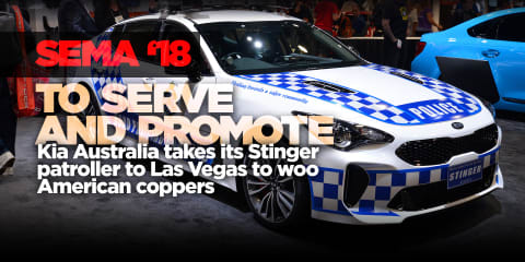 SEMA 2018: Kia Stinger cop car, Cerato drifter on tour