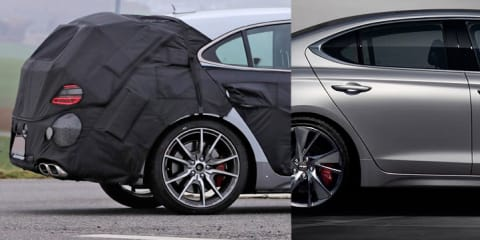 2022 Genesis G70 Shooting Brake wagon spied testing, Australian arm keen