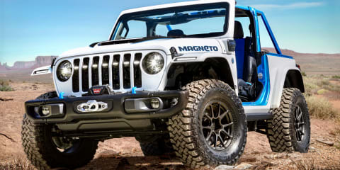 Electric Jeep Wrangler Magneto concept revealed, but plug-in hybrid falls short