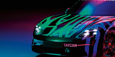 2020 Porsche Taycan teased again