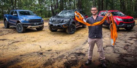 2020 Nissan Navara N-Trek Warrior v Ford Ranger Raptor v HSV Colorado SportsCat off-road comparison