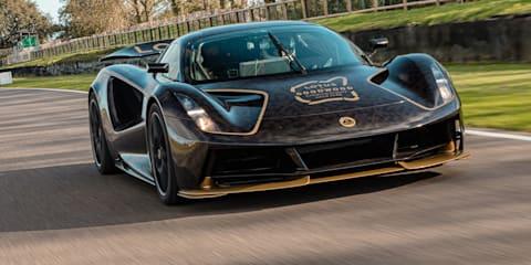 Video: 2021 Lotus Evija struts its stuff on track –UPDATE: Goodwood JPS livery!