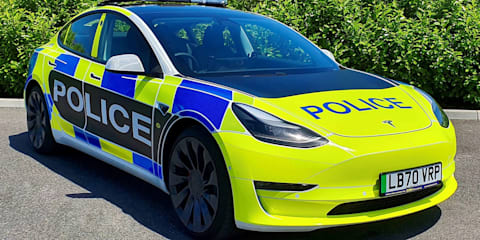 "Tesla Model 3 ""under evaluation"" as police car in the UK"