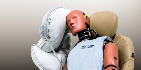 Hyundai developing central armrest airbag