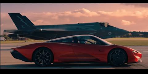 McLaren Speedtail takes on a fighter jet