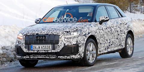 Audi Q2 L e-tron spied again