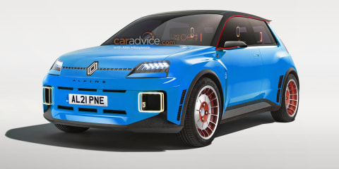 Renault 5 Alpine electric hot hatch imagined