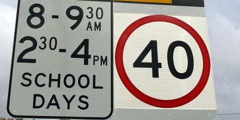 No 24-hour school zone speed limits for NSW: O'Farrell