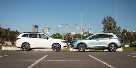 2021 Mitsubishi Outlander PHEV GSR vs 2021 MG HS PHEV comparison
