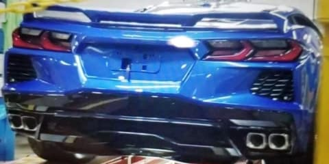 2020 C8 Chevrolet Corvette: Rear end spied