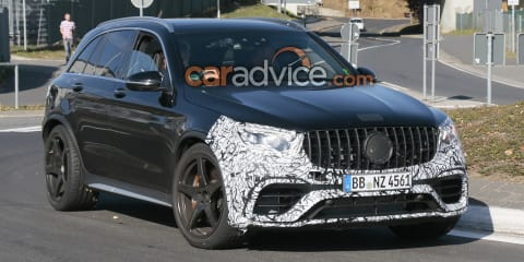 2019 Mercedes-AMG GLC63 spied at the Nurburgring