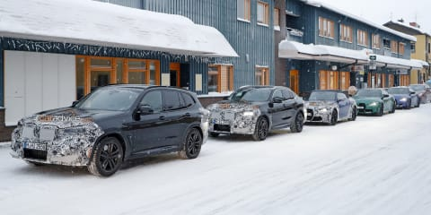 2021 BMW X3 M facelift spy photos