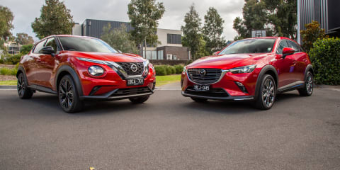 Small SUV review: 2020 Nissan Juke v Mazda CX-3 comparison