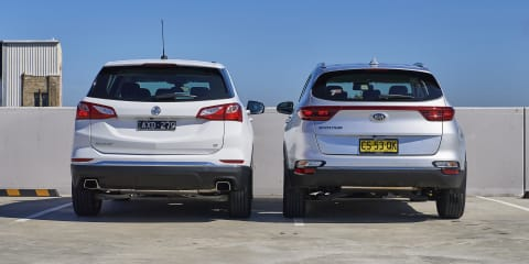2019 Holden Equinox v Kia Sportage comparison
