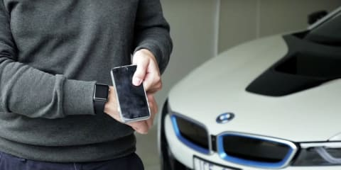 BMW i8 Connected Drive Apple Watch with iRemote
