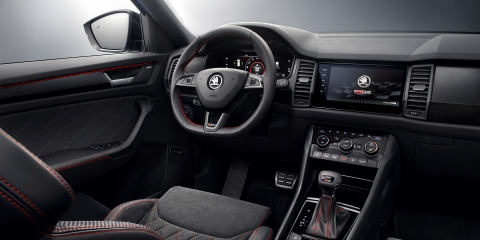 Skoda Kodiaq RS interior revealed