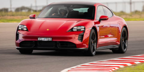 2021 Porsche Taycan Turbo S sets production electric vehicle lap record at The Bend