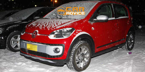 Volkswagen Cross Up!: rugged city car spied undisguised in the snow