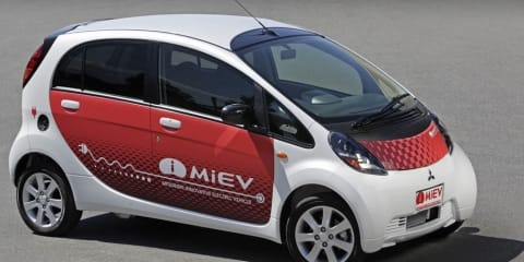 2009 Mitsubishi i MiEV First Steer
