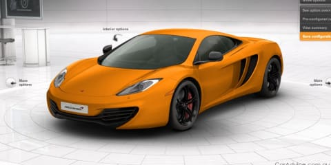 McLaren MP4-12C configurator launched, tested by Button and Hamilton