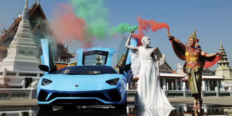Lamborghini celebrates Italian design flair with art installations