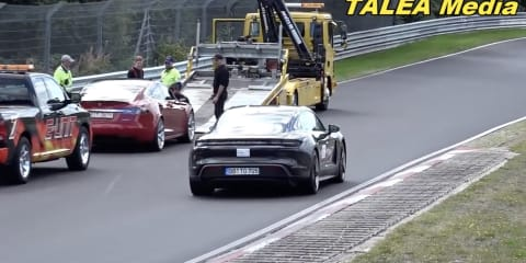 Tesla breaks down on Nurburgring during electric-car record attempt