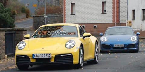 2019 Porsche 911 spied alongside 991.2-gen