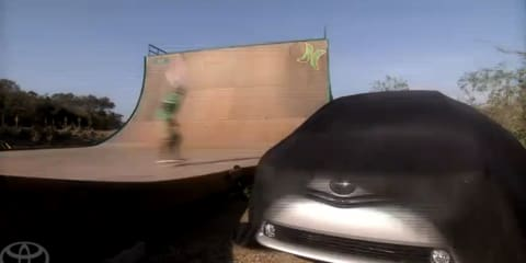 Video: 2011 Toyota Prius MPV teaser with Bob Burnquist