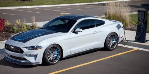 Ford unveils electric Mustang … and it's a manual!