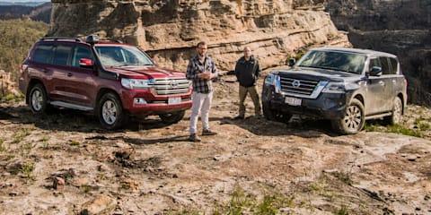 2020 Toyota LandCruiser v Nissan Patrol off-road comparison review