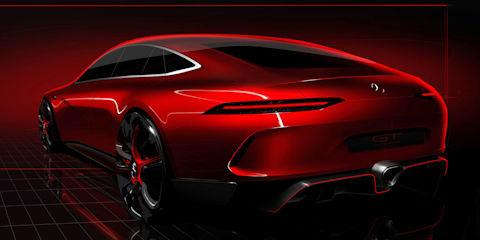 Mercedes-AMG GT Concept sedan teased ahead of Geneva debut